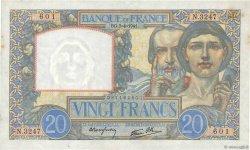 20 Francs SCIENCE ET TRAVAIL FRANCE  1941 F.12.13 SPL