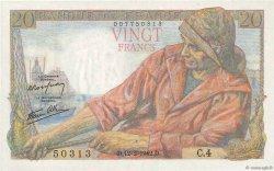 20 Francs PÊCHEUR FRANCE  1942 F.13.01 pr.NEUF