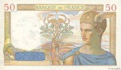 50 Francs CÉRÈS modifié FRANCE  1938 F.18.08 TTB