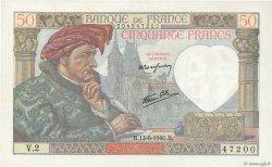 50 Francs JACQUES CŒUR FRANCE  1940 F.19.01 SPL+