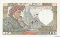 50 Francs JACQUES CŒUR FRANCE  1940 F.19.02 SUP+