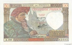 50 Francs JACQUES CŒUR FRANCE  1942 F.19.19 SPL