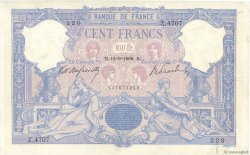 100 Francs BLEU ET ROSE FRANCE  1906 F.21.20 pr.TTB
