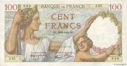 100 Francs SULLY  FRANCE  1939 F.26.01 SUP