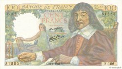 100 Francs DESCARTES FRANCE  1944 F.27.07 pr.NEUF