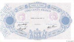 500 Francs BLEU ET ROSE modifié FRANCE  1937 F.31.01 SPL