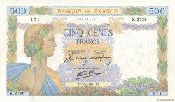 500 Francs LA PAIX FRANCE  1941 F.32.15 SPL+