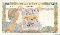 500 Francs LA PAIX FRANCE  1941 F.32.23 pr.NEUF