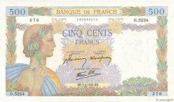 500 Francs LA PAIX FRANCE  1942 F.32.33 pr.NEUF