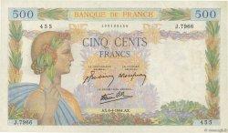 500 Francs LA PAIX FRANCE  1944 F.32.46 TTB