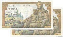 1000 Francs DÉESSE DÉMÉTER FRANCE  1942 F.40.04 NEUF