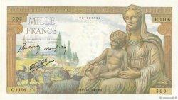 1000 Francs DÉESSE DÉMÉTER FRANCE  1942 F.40.05 NEUF