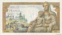 1000 Francs DÉESSE DÉMÉTER FRANCE  1943 F.40.30 SUP