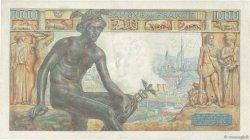 1000 Francs DÉESSE DÉMÉTER FRANCE  1943 F.40.30 TTB