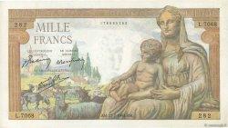 1000 Francs DÉESSE DÉMÉTER FRANCE  1943 F.40.31 SUP