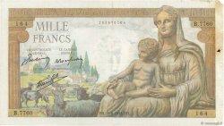 1000 Francs DÉESSE DÉMÉTER FRANCE  1943 F.40.33 TB+