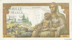 1000 Francs DÉESSE DÉMÉTER FRANCE  1943 F.40.41 SPL