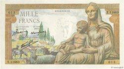 1000 Francs DÉESSE DÉMÉTER FRANCE  1944 F.40.43