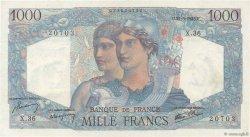 1000 Francs MINERVE ET HERCULE FRANCE  1945 F.41.03 NEUF