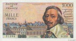 1000 Francs RICHELIEU FRANCE  1956 F.42.20 pr.NEUF