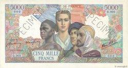 5000 Francs EMPIRE FRANÇAIS FRANCE  1942 F.47.00s1 SUP
