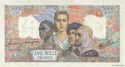5000 Francs EMPIRE FRANCAIS FRANCE  1944 F.47.07 SUP à SPL