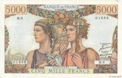 5000 Francs TERRE ET MER FRANCE  1949 F.48.01 SPL