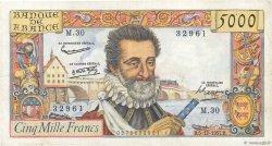 5000 Francs HENRI IV FRANCE  1957 F.49.04 TTB