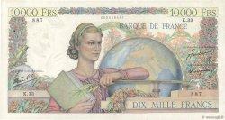 10000 Francs GÉNIE FRANÇAIS FRANCE  1946 F.50.02 pr.SUP