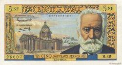 5 Nouveaux Francs VICTOR HUGO FRANCE  1960 F.56.05 SUP+