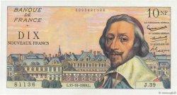 10 Nouveaux Francs RICHELIEU FRANCE  1959 F.57.03 pr.SPL