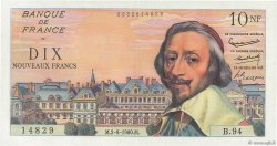 10 Nouveaux Francs RICHELIEU FRANCE  1960 F.57.08 SPL