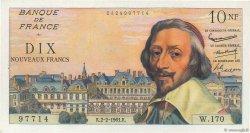 10 Nouveaux Francs RICHELIEU FRANCE  1961 F.57.14 SPL