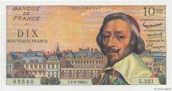 10 Nouveaux Francs RICHELIEU FRANCE  1962 F.57.19 SPL