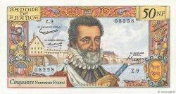 50 Nouveaux Francs HENRI IV FRANCE  1959 F.58.01 pr.SPL