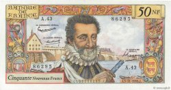 50 Nouveaux Francs HENRI IV FRANCE  1959 F.58.04 NEUF