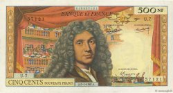 500 Nouveaux Francs MOLIÈRE FRANCE  1961 F.60.03 pr.SUP