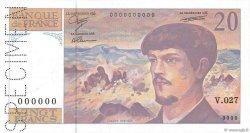 20 Francs DEBUSSY à fil de sécurité FRANCE  1990 F.66bis.00s3 NEUF
