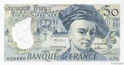 50 Francs QUENTIN DE LA TOUR FRANCE  1992 F.67.19c SPL