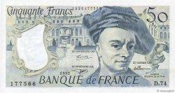 50 Francs QUENTIN DE LA TOUR FRANCE  1992 F.67.19d pr.SPL