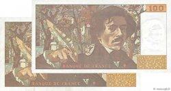 100 Francs DELACROIX FRANCE  1978 F.68.02 / F.69.01a TTB