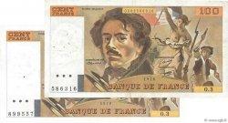 100 Francs DELACROIX FRANCE  1978 F.68.03 / F.69.01b TTB