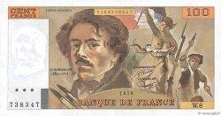 100 Francs DELACROIX modifié FRANCE  1978 F.69.01f NEUF