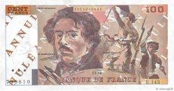 100 Francs DELACROIX imprimé en continu FRANCE  1990 F.69bis.00 pr.NEUF