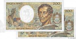 200 Francs MONTESQUIEU FRANCE  1987 F.70.07 pr.SPL