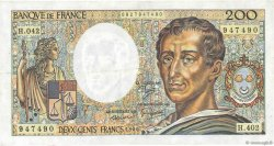 200 Francs MONTESQUIEU alphabet H.402 FRANCE  1986 F.70ter.01