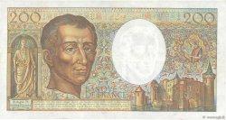 200 Francs MONTESQUIEU alphabet H.402 FRANCE  1986 F.70ter.01 TTB