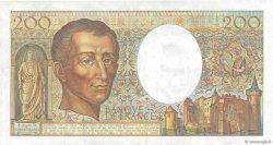 200 Francs MONTESQUIEU alphabet H.402 FRANCE  1986 F.70ter.01a TTB