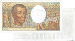 200 Francs MONTESQUIEU UNIFACE FRANCE  1985 F.70u.02 pr.SUP