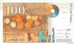 100 Francs CÉZANNE sans STRAP FRANCE  1998 F.74bis.02 SUP+